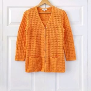 St. John Orange Knit Sweater Set   Vintage   S/P